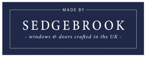 Sedgebrook Navy Background Logo
