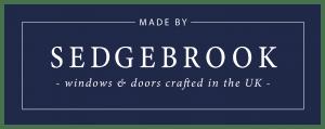 Sedgebrook Navy Background Logo